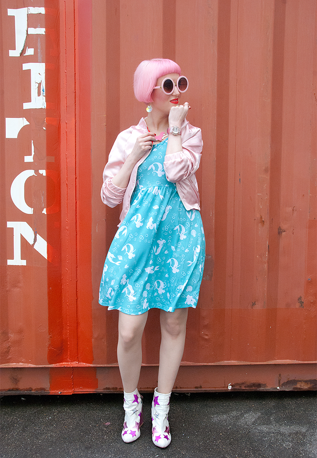 disney mermaid dress, blogger look, kawaii style