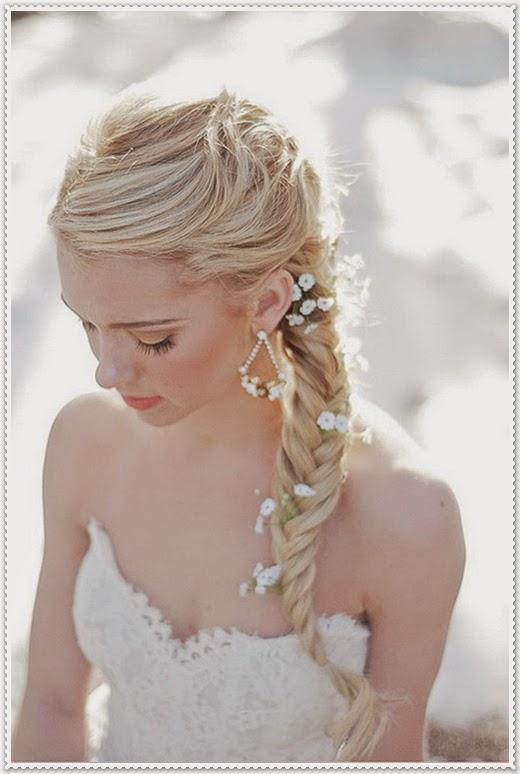 Mode Germany Brautfrisuren lange haare geflochten 2014