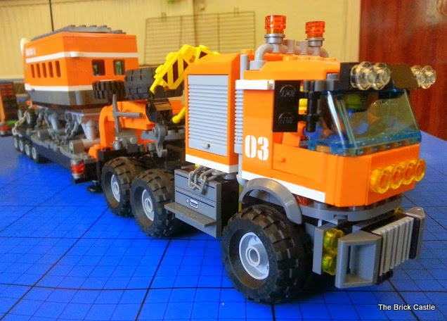 LEGO brick Articulated trailer lorry