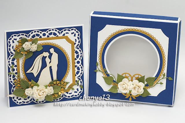 277. Kartka ślubna w pudełku