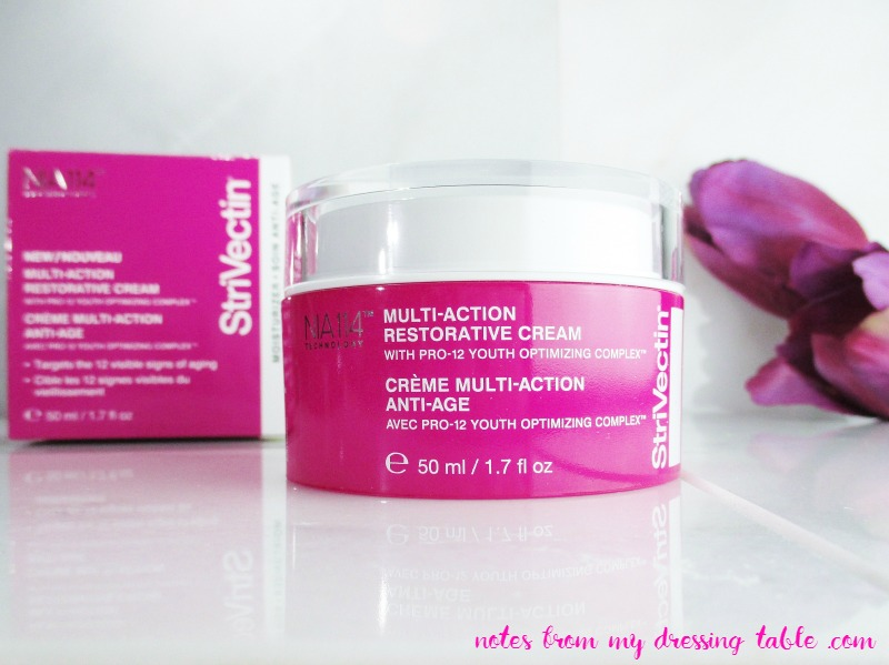 StriVectin Multi Action Restorative Cream | My Notes - Review - notesfrommydressingtable.com