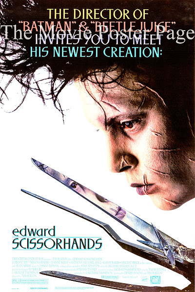 Poster of Edward Scissorhands (1990) Full Movie [English-DD5.1] 720p BluRay ESubs Download