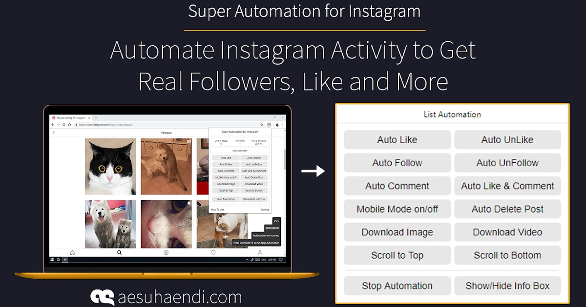 Super Automation for Instagram – AE Suhaendi