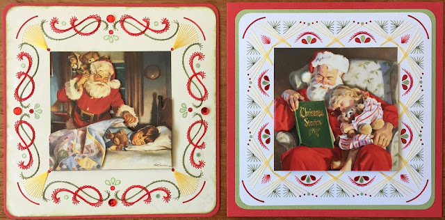 Santa Claus Paper Embroidery Christmas Card