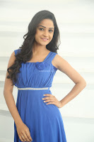 Divya Nandini stunning Beauty in blue Dress at Trendz Exhibition Launch ~  Celebrities Galleries 047.JPG