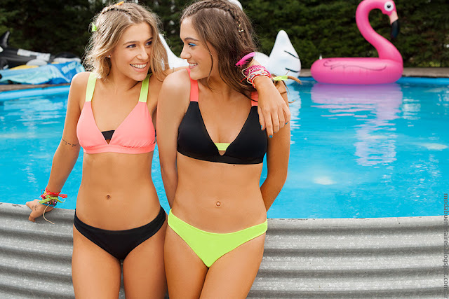 Moda verano 2017 bikinis de moda juveniles.