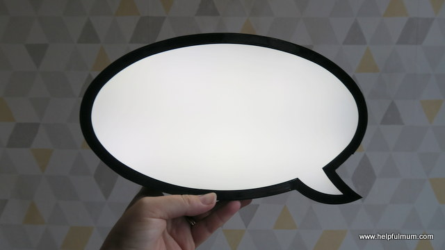 Speech bubble light Primark