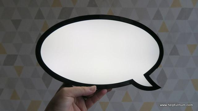 Speech bubble light Primark
