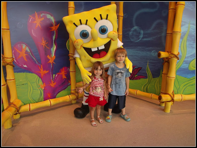 kids with Spongebob Squarepants