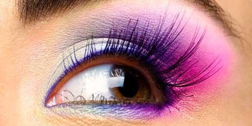 maquillajes dulces en tonos violetas