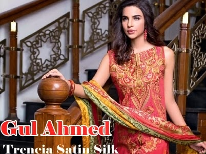 d909a07db2 Gul Ahmed Trencia Satin Silk Collection From Midsummer Cambric 2014 -  Clothing9Store.pk