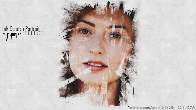 Ink Scratch Portrait Effect - Photoshop Tutorial