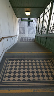 Entrance stairwell to the train station at Schonbrunn