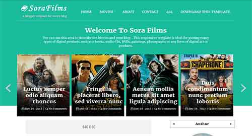 Sora Films Blogger Template
