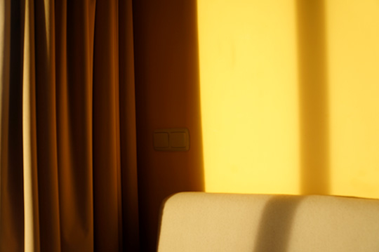 sunset, yellow, room scene, contemporary photography, sundown, photo art, photo artist, photography, travel, traveling, Sam Freek,