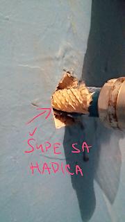 Ukážka poškodenia rúrky tepelnou rozťažnosťou