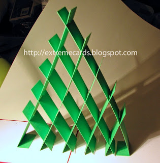 Christmas tree sliceform from paper strips