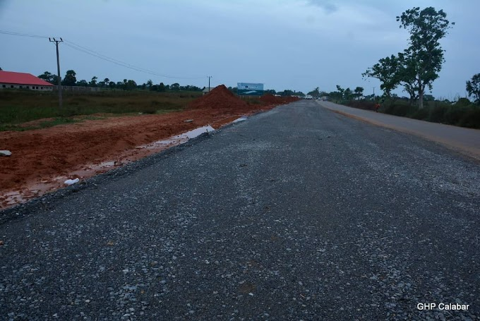 Photos from the ongoing construction of the Ogoja dual carriage road