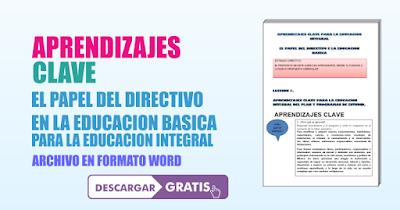 APRENDIZAJES CLAVE PARA LA EDUCACIÓN INTEGRAL - DIRECTIVO