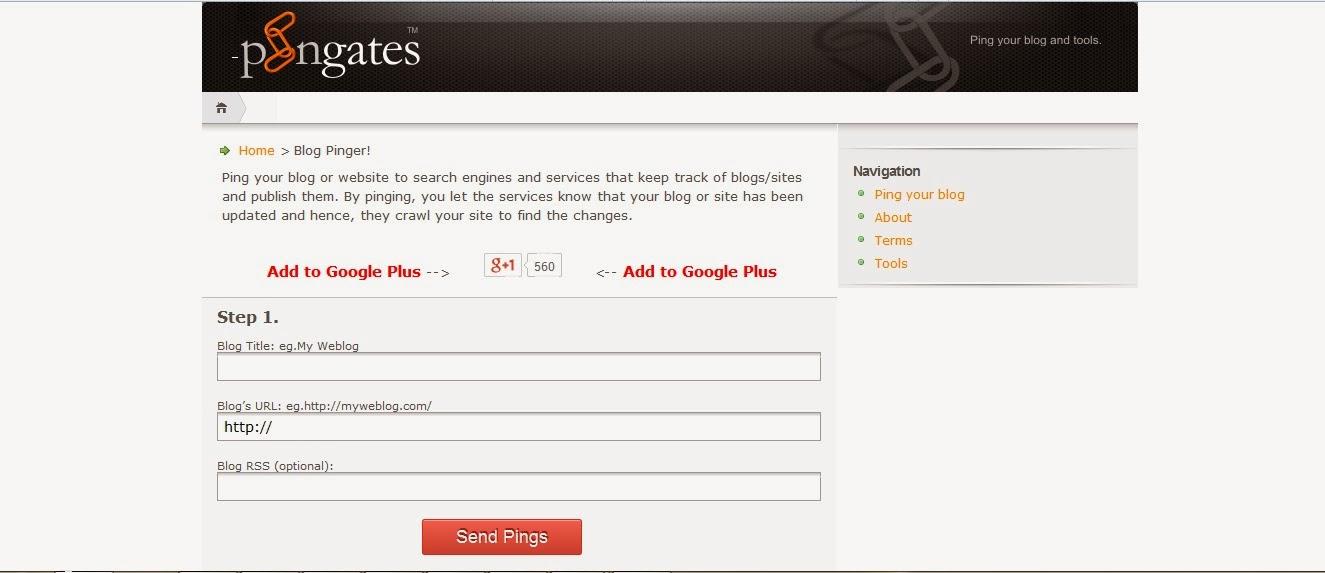 http://pingates.com/ টপটেন পিং সার্ভিস সাইট লিংক দেখেনিন এখনই নতুন ব্লগার এবং ওয়েবমাস্টারদের জন্য
