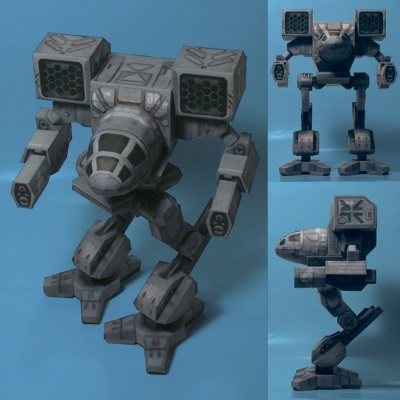 MechWarrior Mad Cat Papercraft