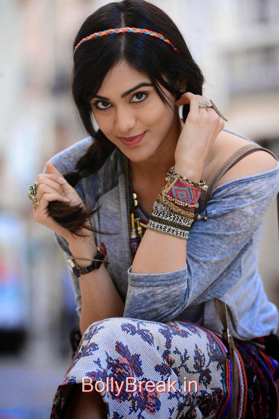 Adah Sharma Images, Adah Sharma Hot Pics In Grey and White Top