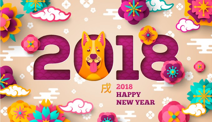 Chinese New Year - Year of the Dog festive scrapbooking elements free vector