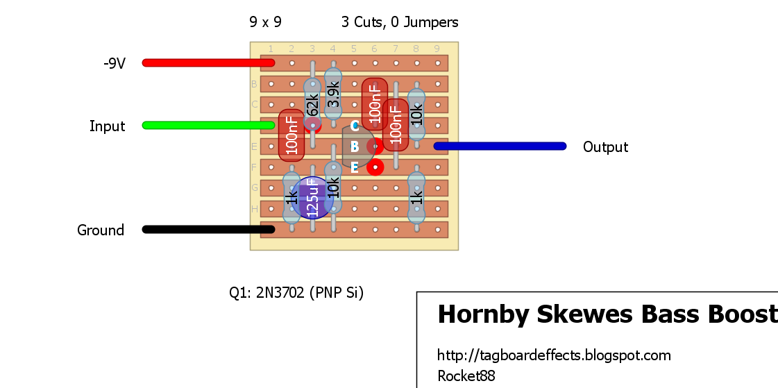 guitar fx layouts hornby skewes bass boost. Black Bedroom Furniture Sets. Home Design Ideas