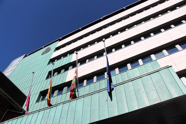 balcón del ayuntamiento de Barakaldo
