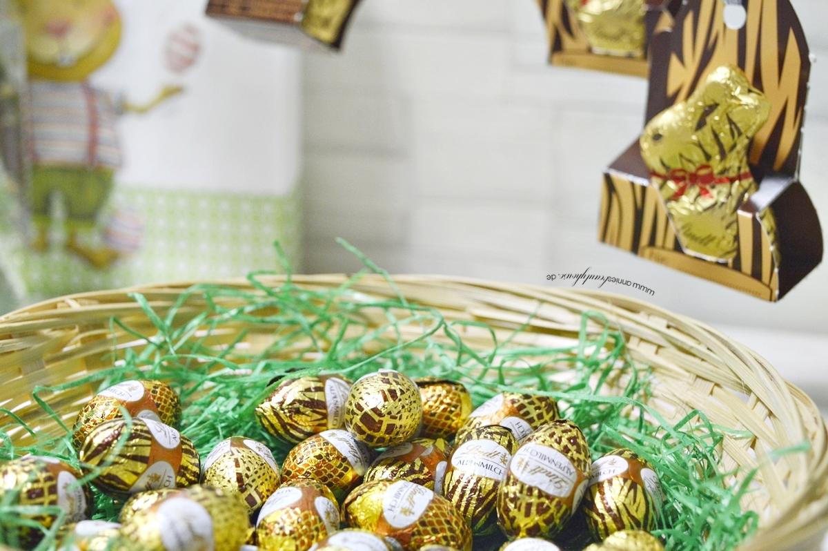 Easter bunny wears Animal Print full cream milk eggs