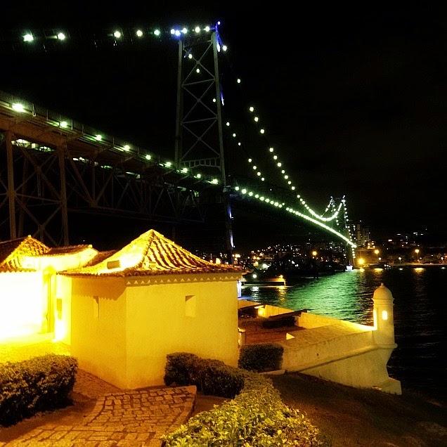 Forte Sant'Anna e Ponte Hercílio Luz, Florianópolis
