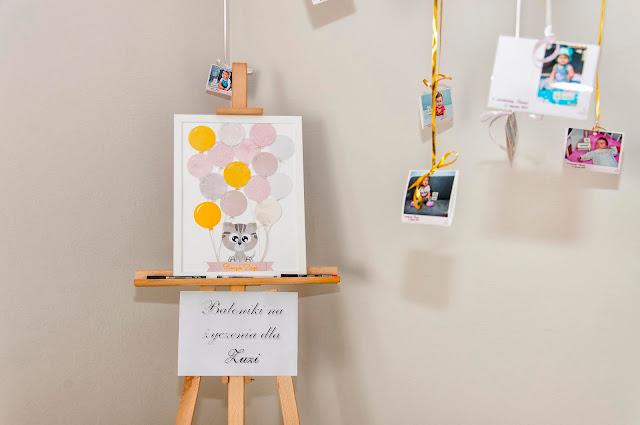 na podpisy gości, na życzenia na roczek, tablica dla gości, ozdoby na roczek, pamiątkowa tablica na urodziny,