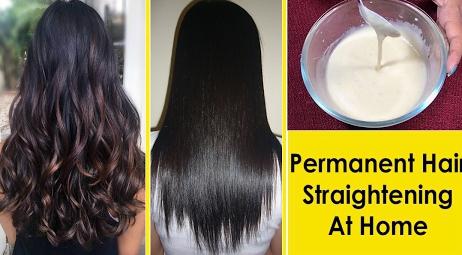घर पर नेचुरल तरीको से करे -Hair Straight