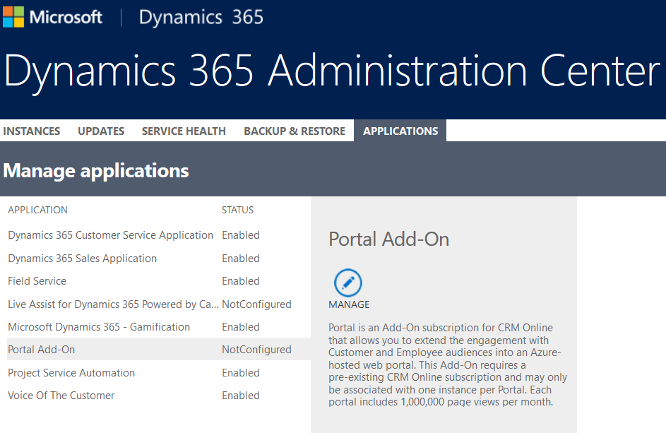 Dynamics 365 Portal Quick Start - Microsoft Dynamics CRM