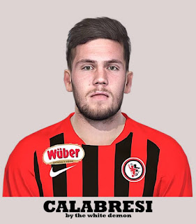 PES 2019 Faces Arturo Calabresi by The White Demon
