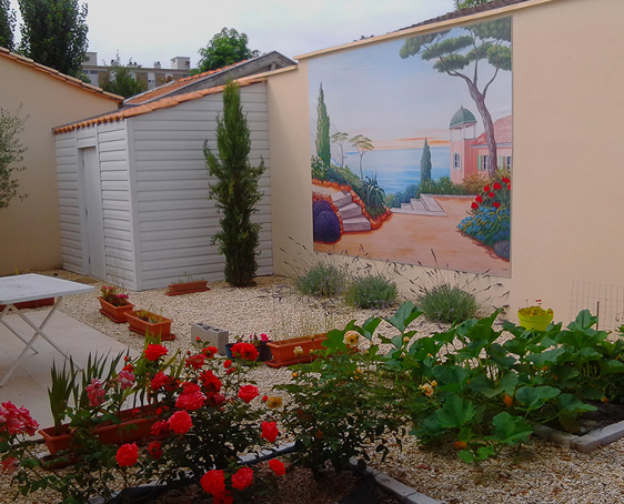 Le blog belmon d co nos r alisations en ext rieur for Mur de jardin mitoyen