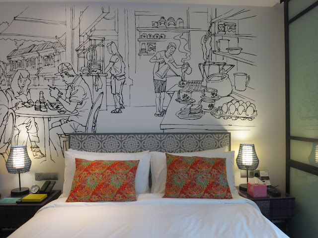 wall mural at hotel indigo katong
