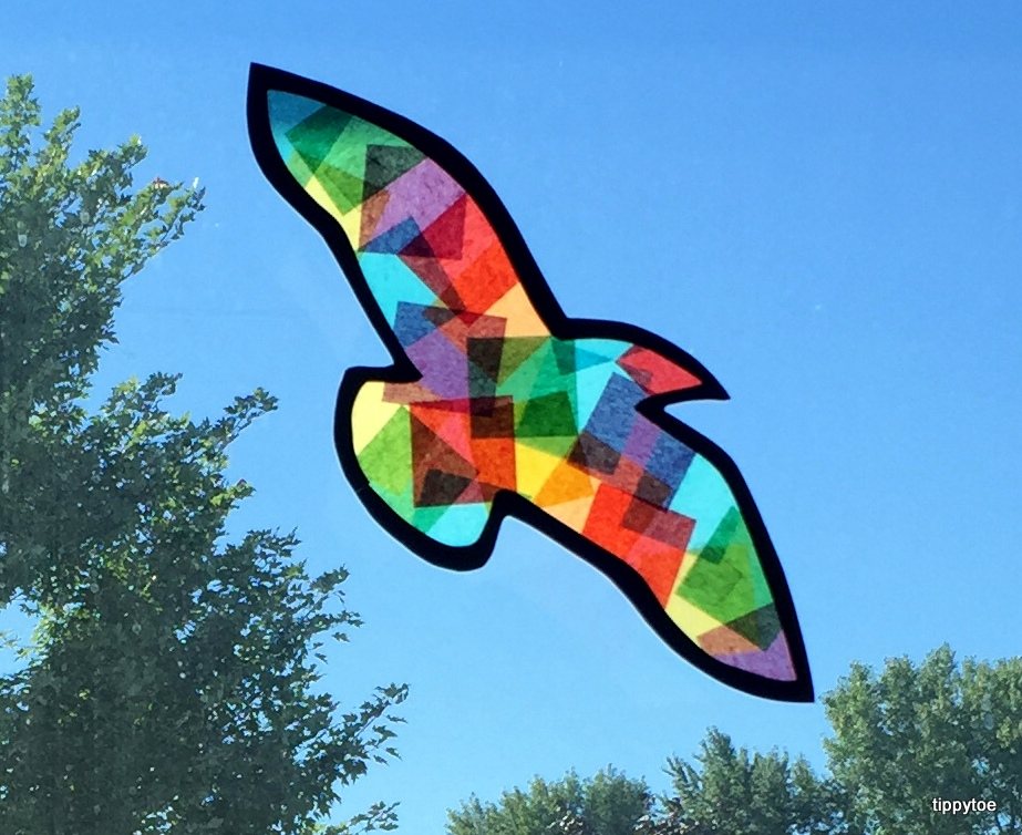Tippytoe Crafts Stained Glass Birds