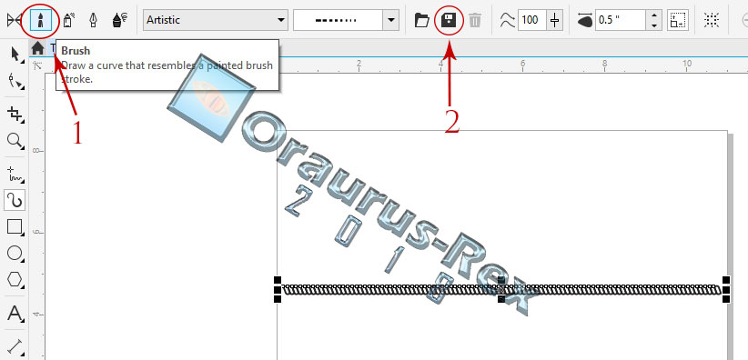 Template Tali Tambang Brush Artistic Media Tools Coreldraw Box Markah It