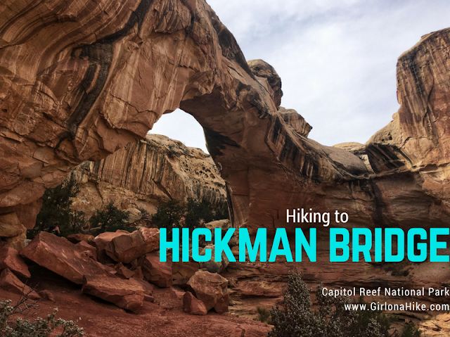 Hiking to Hickman Bridge, Capitol Reef National Park
