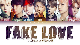 Lirik BTS - Fake Love (Japanese Version)