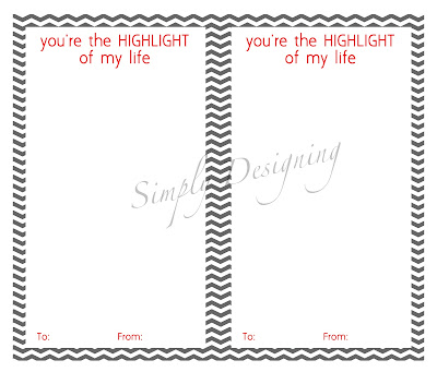 youre the highlight of my life generic 01a You're the HIGHLIGHT of My Life {Free Printable} 8