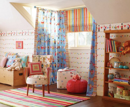 Inspirations For Modern Kids Bedroom: Good Curtian For