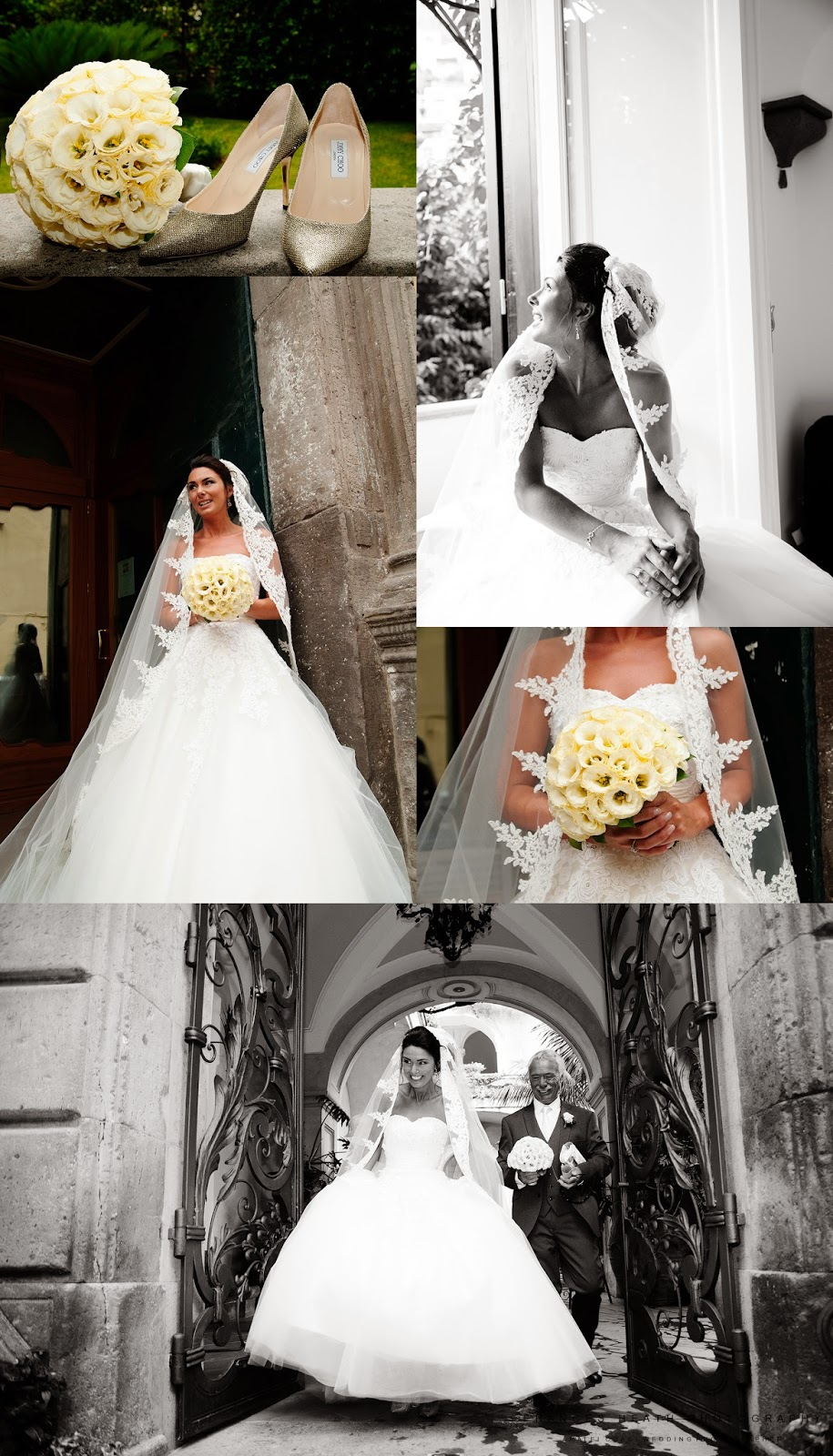 Bride at Palazzo Murat in Positano