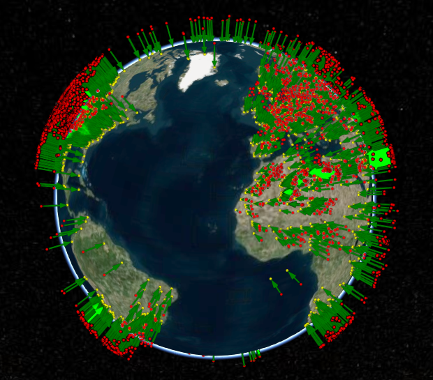 Asteroid impact data visualisation with Cesium js and Glitch