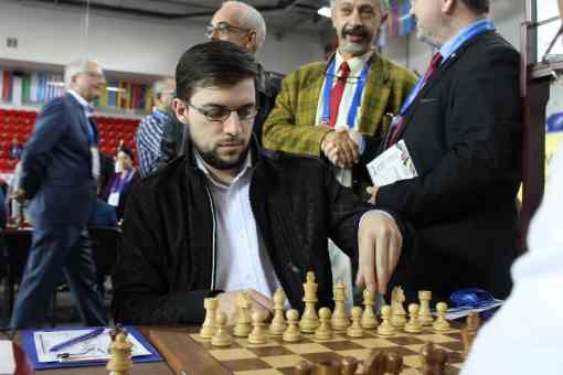 Le joueur d'échecs français Maxime Vachier-Lagrave lors des olympiades de Batoumi 2018 - Photo © Chess & Strategy