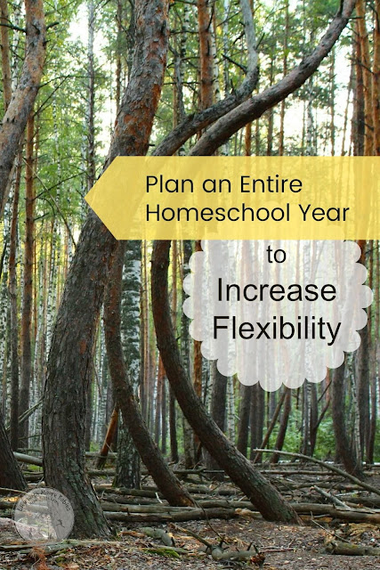 Plan Your Homeschool Year for More Flexibility
