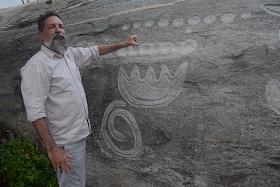 Foto Gustavo Moura - Matéria Pedra do Ingá - BLOG LUGARES DE MEMÓRIA