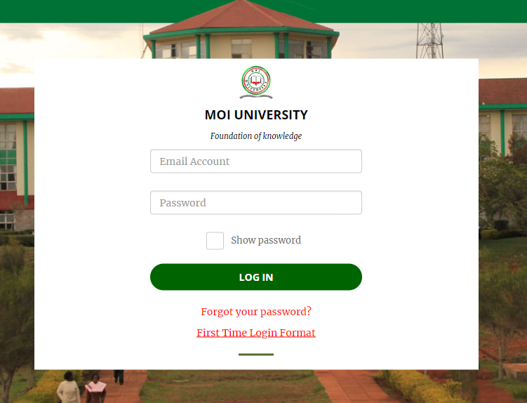 Download MOI University KUCCPS Admission Letters and Fee