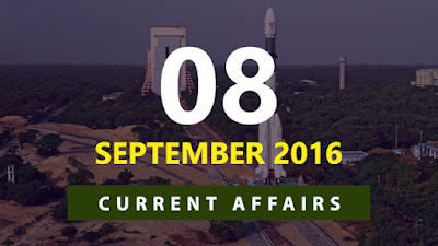 Current Affairs Quiz 8 September 2016